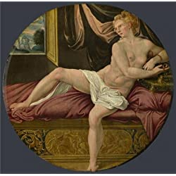 Perfect Effect Canvas ,the Best Price Art Decorative Canvas Prints Of Oil Painting 'French, Fontainebleau School-Cleopatra,16th Century', 10x10 Inch / 25x26 Cm Is Best For Study Decor And Home Decoration And Gifts