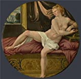 High Quality Polyster Canvas ,the Vivid Art Decorative Canvas Prints Of Oil Painting 'French, Fontainebleau School-Cleopatra,16th Century', 10x10 Inch / 25x26 Cm Is Best For Powder Room Decor And Home Decoration And Gifts