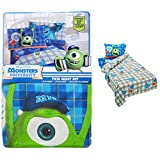 monsters inc bedding set twin - 3-Pc Twin Bed Sheet Set: Disney Pixar Monsters University, Cotton Rich