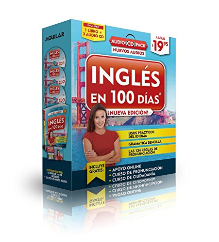 Inglés en 100 días - Curso de Inglés - Audio Pack (Libro + 3 CD's Audio) (Spanish Edition) by Aguilar