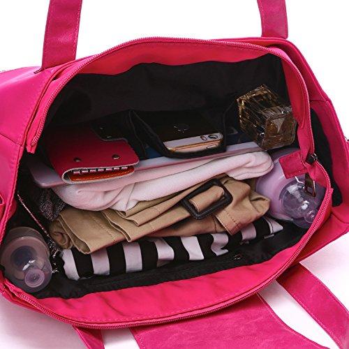 Nuevo estilo momia bolsa hombro bolsa multifunctional-infant Pure Color Bolsa azul azul Rosa y rojo