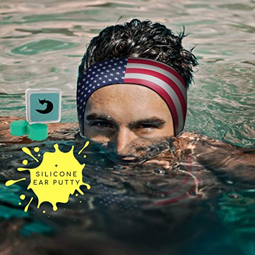 Will & Fox Swimming Headband Prevent Ear INFECTIONS Adults -10 Years (Unisex) + Free EARPLUGS (Putty) -Large Range Designs/Prints - The #1 ENT Physician Recommended Swim EARBAND!