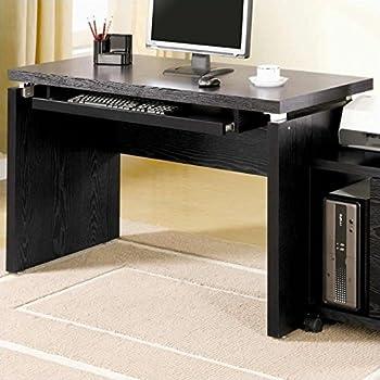 Amazon Com Coaster Peel Black Computer Desk With Keyboard