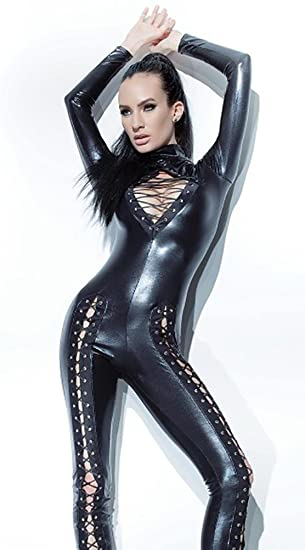 XINGHNDER Mujeres Sexy Traje de lencería de Cuero Catwoman ...