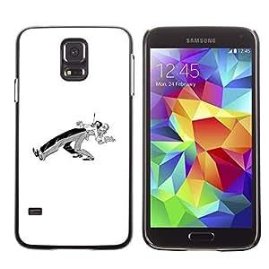 Colorful Printed Hard Protective Back Case Cover Shell Skin for SAMSUNG Galaxy S5 V / i9600 / SM-G900F / SM-G900M / SM-G900A / SM-G900T / SM-G900W8 ( Dancers Couple Minimalist Black White ) Kimberly Kurzendoerfer