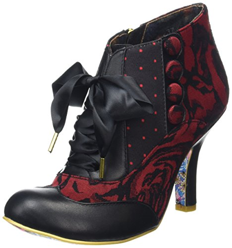 Irregular Choice Blair Elfglow - Botines para mujer Rojo (Red Multi)