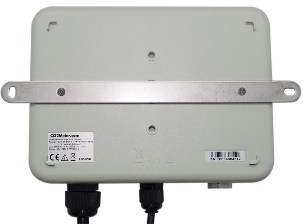 CO2Meter RAD-0501 Day Night CO2 Monitor and Controller for Greenhouses, Grey by CO2Meter (Image #3)
