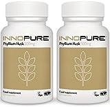 Pure Psyllium Husk No Fillers or Binders   Duo Saver Pack 240 Capsules, 500mg   Vegan, Vegetarian Society Approved