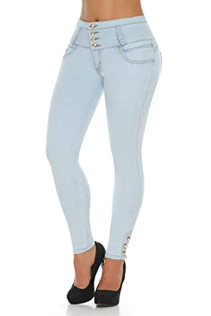 6d916da7d9 Image Unavailable. Image not available for. Color  VEROX JEANS Pantalones  Colombianos Levanta Cola Colombian Jeans Levantacola 3316