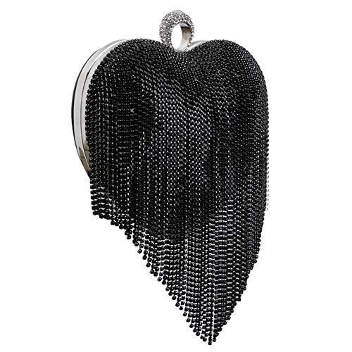Purse Bags Wedding Chain Diamonds Black Womens Clutch For Evening Dress Handbag gwY7II