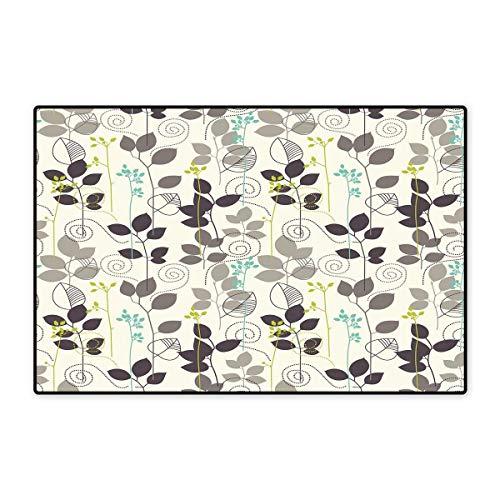 Floral Bath Mats Carpet Doodle Leaves Earthen Toned Leaf Branches Autumn Beauty Season Theme Customize Door mats for Home Mat 24