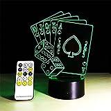 LUCKY CLOVER-AChristmas Remote/Touch Control Visual Light 3D LED Optical Illusion Light Illuminating Light Desk Table Light Lamp Skull Panic Decor Night Light(7 color) , Couple