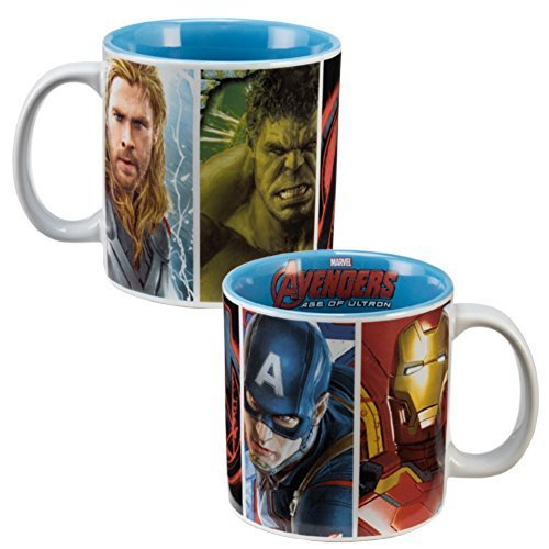 Marvel Comic Heroes (Avengers 2) Age Of Ultron Movie 20 oz. Ceramic Mug Size: 5.5'' x 4'' x 4'' (with Gift Box) by Marvel Comics (Image #1)