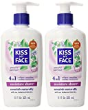Kiss My Face Patchouli Shaving Cream (Pack of 2) With Vitamin E, Aloe Vera and Coconut Oils, 11 fl. oz.