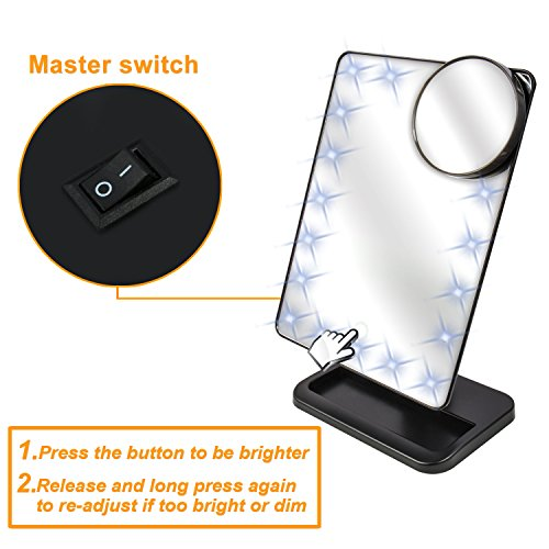 from usa makeup mirror moms love 20pcs led touch screen lighted vanity mirrors with removable. Black Bedroom Furniture Sets. Home Design Ideas