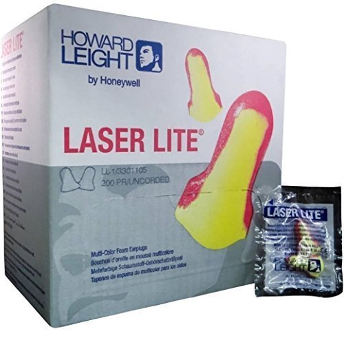 Howard Leight Laser Lite Foam Earplugs No Cords - MS92260 (1 Box)