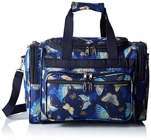 World Traveler Womens Duffel Bag, Gold Butterfly, One Size