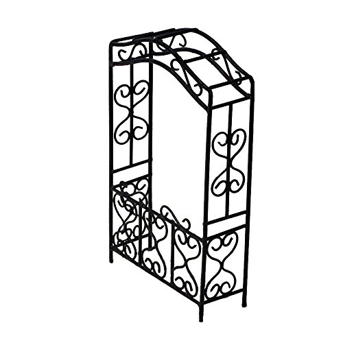 Provence AF2548 Iron Mini Fairy Garden Arbour, Black by Provence