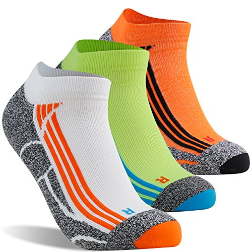 Ankle Running Socks Men, LANDUNCIAGA Low Cut Hidden Anti Blister Running Cycling Tennis Hiking Camping Compression Arch Support Socks No Show Socks Guys,3 (Sock Guy Running Socks)