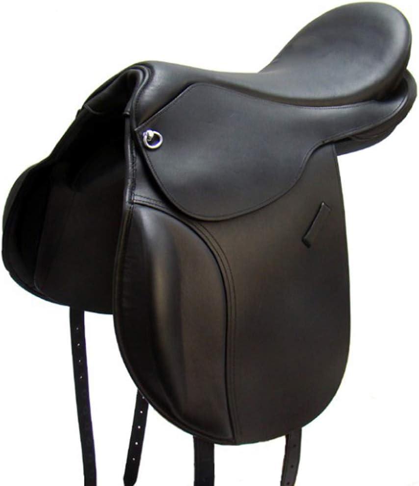 A/&M Reitsport Tree Loose VSD Saddle Boston Buffalo Leather with Velcro Pad
