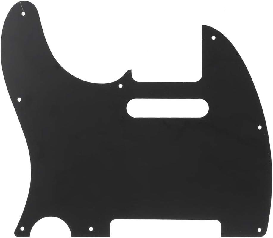 3Ply Black Musiclily Pro 8-Hole Guitar Tele Pickguard for JPN Made Fender Japan Telecaster