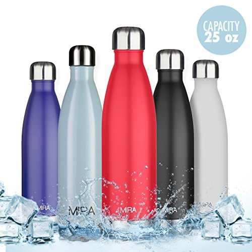 Insulated Cola Water Bottle, Insulated Double Wall Vacuum Stainless Steel Water Bottle, 25 oz, Cola Shaped - Insulated Carrier Beverage