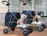 Kittywalk Fifth Avenue Pet Stroller, For Pets Up to 25 Pounds, Blue, My Pet Supplies