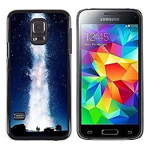 Be Good Phone Accessory // Dura Cáscara cubierta Protectora Caso Carcasa Funda de Protección para Samsung Galaxy S5 Mini, SM-G800, NOT S5 REGULAR! // Universe Milky Way Geyser Water