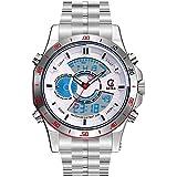 ETbotu Men Dual Core Waterproof Watches Luxury Silver Alloy Sport Quartz Watch