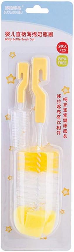 Zubeh/ör Reinigungsschwamm zuf/ällige Farbe Baby 2-teilige Flaschenb/ürste und Saugerb/ürste mit Haken