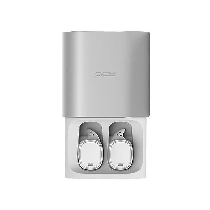 Mengonee QCY T1 PRO TWS de negocios Auriculares Auriculares Bluetooth Auriculares inalámbricos con micrófono 3D llamadas en manos libres con cancelación de ...