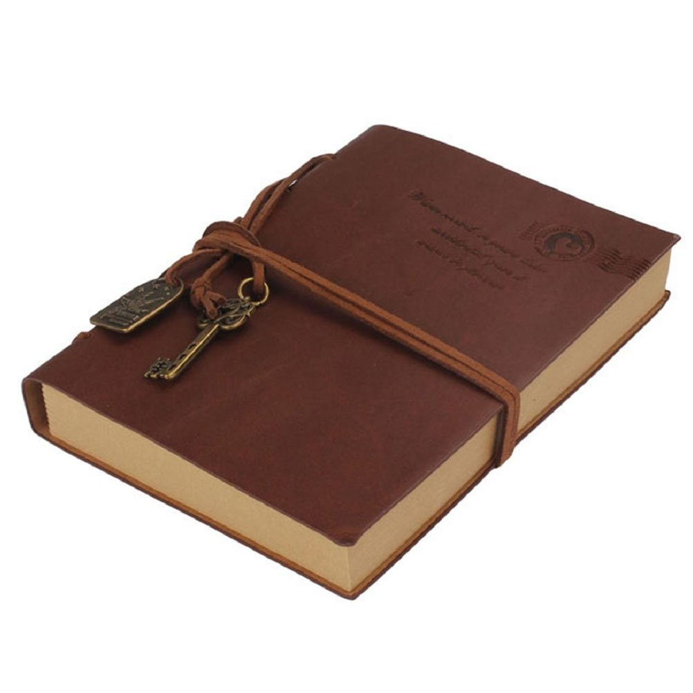 Tinksky Voyage Journal Journal Notebook PU Vintage bloc-notes vide Sketchbook (café)