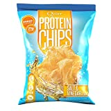 Quest Nutrition Protein Chips, Salt & Vinegar, 21g Protein, 3g Net Carbs, 130 Cals, Low Carb, Gluten Free, Soy Free, Potato Free, Baked, 1.2oz Bag, 8 Count