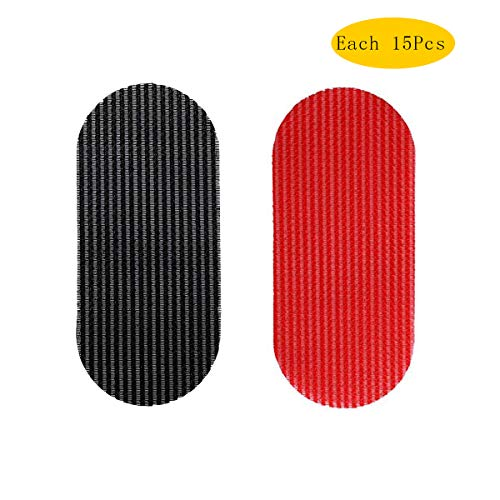 (30 Pcs Hair Gripper Hair Holder Hair Pad Hair Fixed Fringe Hair Makeup Tools for Men Women Grils (Red+Black))