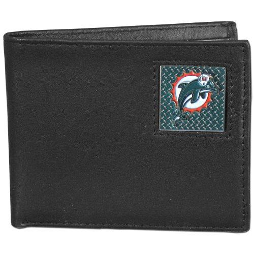 NFL Miami Dolphins Leather Gridiron Bi-Fold Wallet