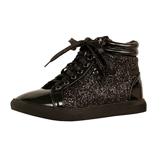 3a3c46bf8d12 Guilty Shoes Womens Fashion Glitter Metallic Lace Up Sparkle Slip On - Wedge  Platform Sneaker - Buy Online in Oman.