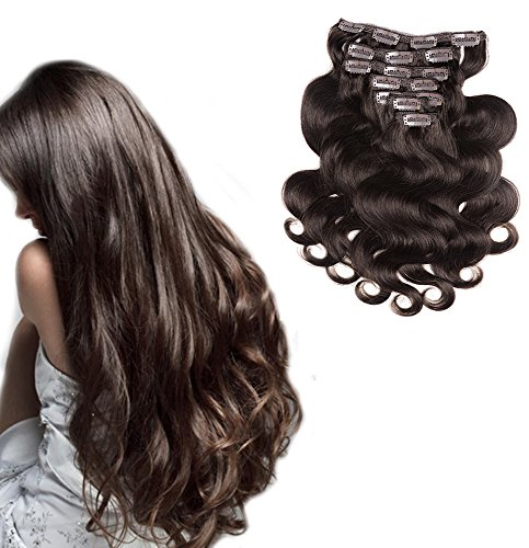 """20"""" Clip in Hair Extensions Real Human Hair Extensions 70 gr"""
