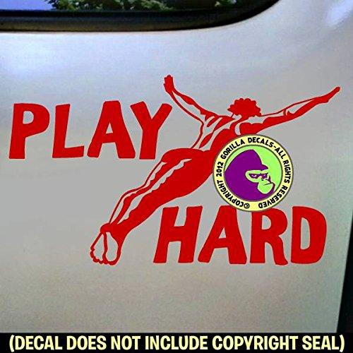 PLAY HARD Springboard Diver MALE Vinyl Decal Sticker F