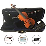 VALE 4/4 Full Size Violin with Case Handmade Flamed Maple Wood Violin Outfit