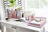 Blu Monaco Office Supplies Pink Desk Accessories