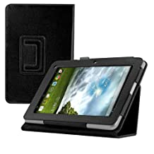 kwmobile Elegant synthetic leather case for Acer Iconia B1-710 / B1-711 in black with convenient STAND FEATURE