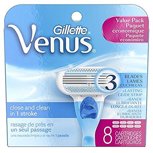 Gillette Venus Women's Original 3 Blade Razor Refills, 8 Cou