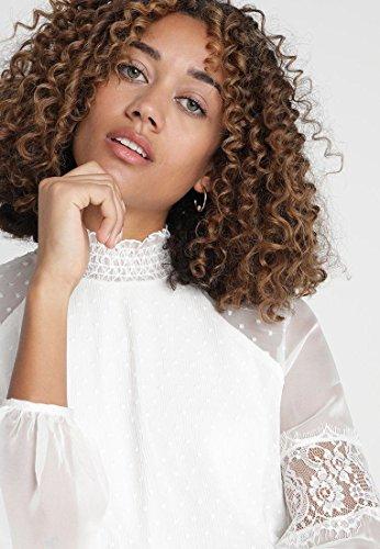Donna Elsa Guess White Blusa Wool wFBzxXP