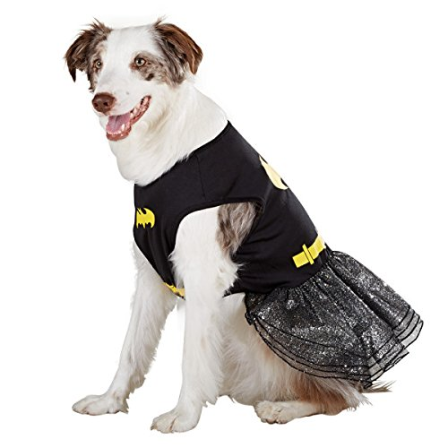 DC Comics Batman Batgirl Dog Dress-Up Halloween Costume Size: (Batgirl Costumes For Dogs)