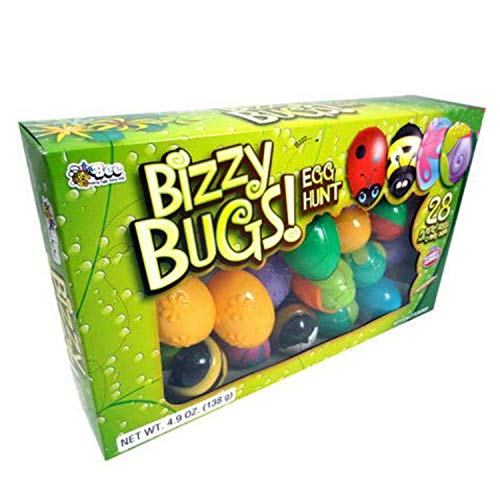 Bizzy Bugs Egg Hunt Plastic Candy Filled Eggs (28 Eggs) -