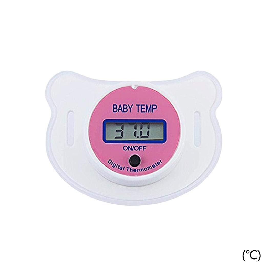 Fahrenheit//Celsius Lome123 Baby Kids LED Pacifier Thermometer Mouth Temperature Monitor Tool