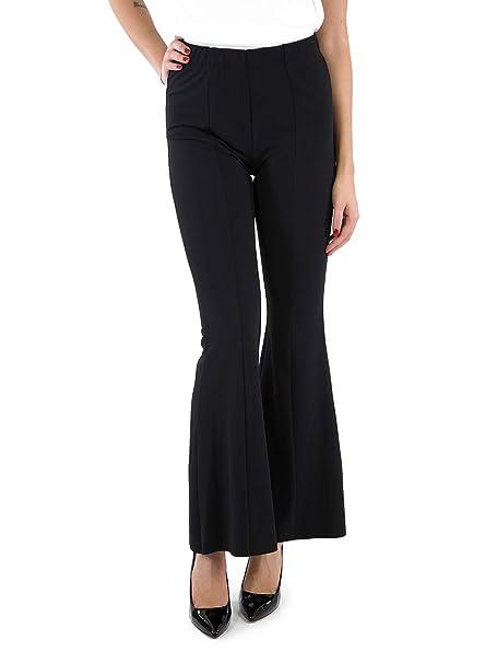 nuovo prodotto 92412 a33c7 VICOLO Pantaloni Zampa Art. TJ0067 (Nero, L): Amazon.it: Abbigliamento