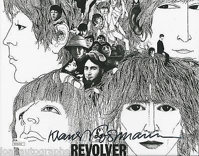 Klaus Voormann REAL hand SIGNED 8x10 Beatles Revolver Cover Photo JSA COA #1 by Loa_Autographs