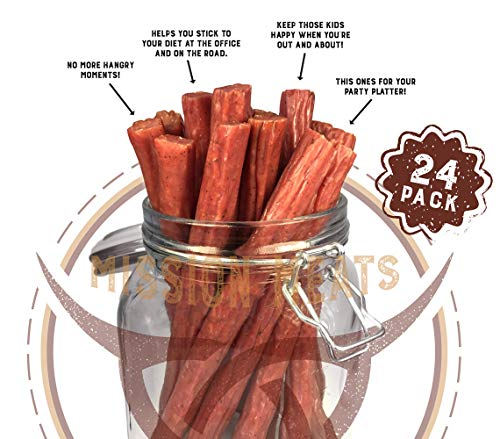 Keto Sugar Free Range Turkey Jerky Sticks Gluten MSG Nitrate & Nitrite Free Paleo Snacks Healthy Natural Meat Sticks