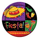 Creative Converting 8 Count Round Dinner Plates, Fiesta Festive